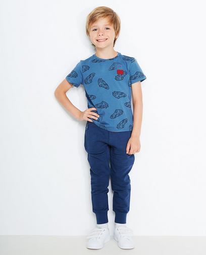 T-shirt bleu gris